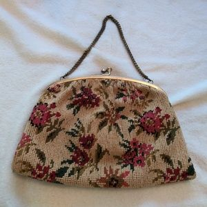 Vintage textured tapestry bag